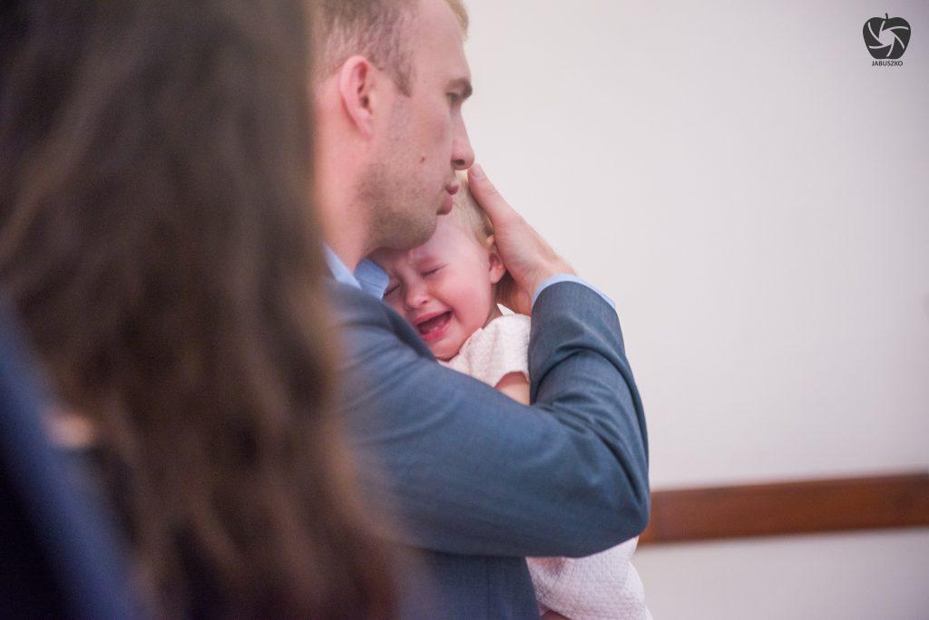 Zdjęcie z chrztu Olgi w Rąbieniu